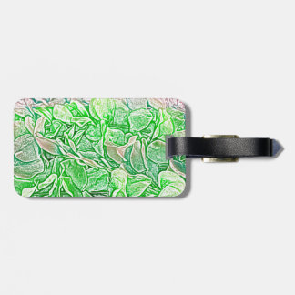 green lei sketch flowers neat abstract background tag for bags
