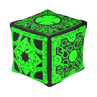 Green Lemarchand's Lament Configuration Hell Box Pouf