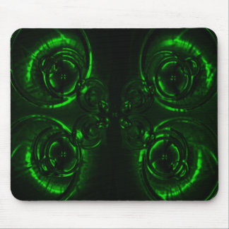 Green Lens Flare Mouse Pad