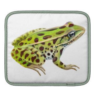 Green Leopard Frog Rickshaw Sleeve iPad Sleeves
