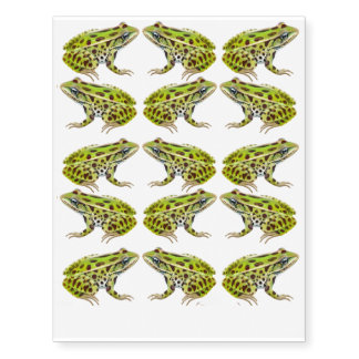 Green Leopard Frogs Temporary Tattoo