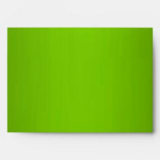Green Leopard Monogram Stripes Envelope