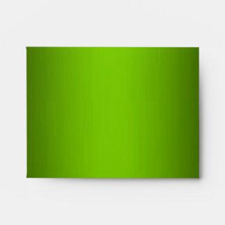 Green Leopard Monogram Stripes NoteCard  Envelope