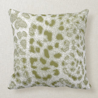 Green Leopard Pillow in Many Styles/Sizes