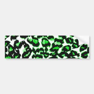 Green Leopard Print Bumper Sticker