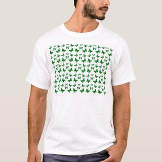 Green Leopard Print Butterfly Pattern T-Shirt