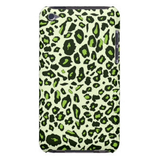 Green leopard print barely there iPod cover