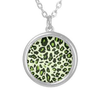 Green leopard print custom jewelry