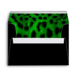 """Green Leopard Print"" Envelope"