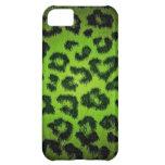 Green Leopard Print Fur iPhone 5C Case