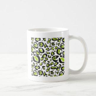 Green Leopard Print Pattern Coffee Mug