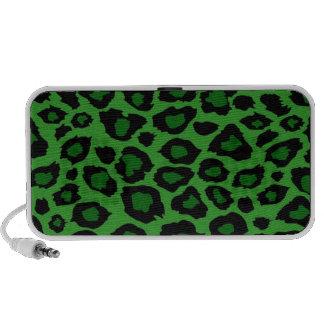 Green Leopard Print Speaker