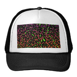 Green Leopard Spots on Fade Background Trucker Hat