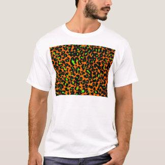 Green Leopard Spots on Orange T-Shirt