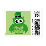 Green leprechaun owl stamps for St Patricks Day