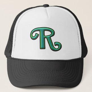 "Green Letter ""R"" Trucker Hat"