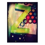 "Green Letter ""Z"" Postcard"