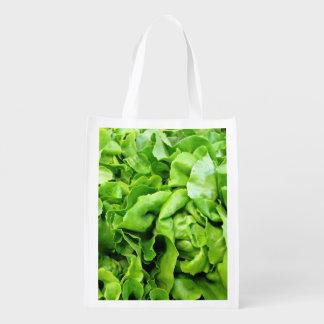 Green Lettuce Grocery Bag