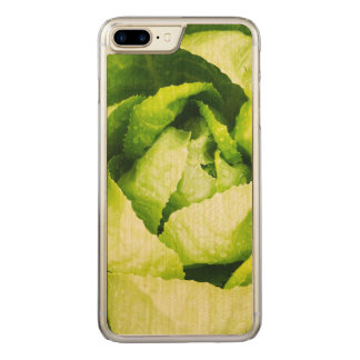 Green Lettuce Leaves With Raindrops Carved iPhone 8 Plus/7 Plus Case