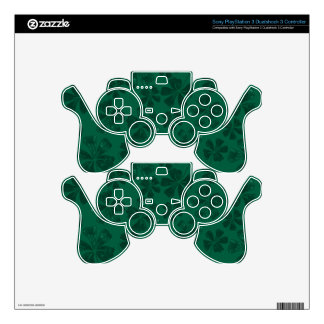green lflowers PS3 controller skins