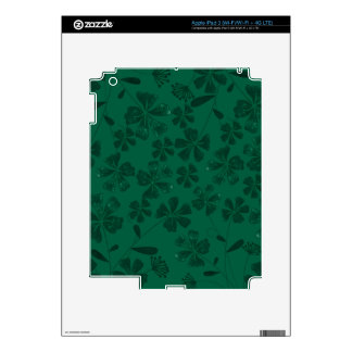 green lflowers skins for iPad 3