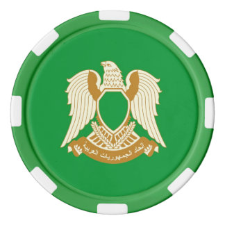 Green Libya Jamahiriya Poker Chips