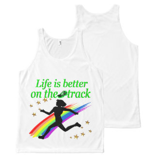 GREEN LIFE IS BETTER ON THE TRACK DESIGN All-Over-Print TANK TOP