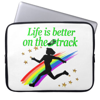 GREEN LIFE IS BETTER ON THE TRACK DESIGN COMPUTER SLEEVE