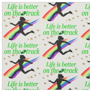 GREEN LIFE IS BETTER ON THE TRACK DESIGN FABRIC