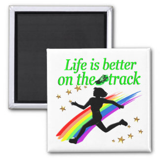 GREEN LIFE IS BETTER ON THE TRACK DESIGN MAGNET