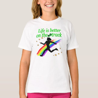 GREEN LIFE IS BETTER ON THE TRACK DESIGN T-Shirt