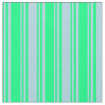 [ Thumbnail: Green & Light Blue Colored Lines Pattern Fabric ]