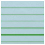 [ Thumbnail: Green & Light Blue Colored Striped/Lined Pattern Fabric ]