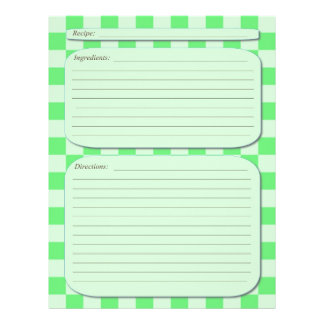 Green light checkered recipe page flyer