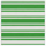 [ Thumbnail: Green & Light Cyan Colored Lines Pattern Fabric ]