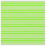 [ Thumbnail: Green & Light Cyan Colored Striped Pattern Fabric ]
