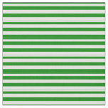 [ Thumbnail: Green & Light Cyan Lines Pattern Fabric ]