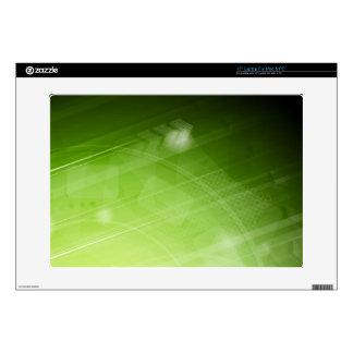 "Green light design in hi-tech style 15"" laptop skin"