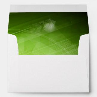 Green light design in hi-tech style envelope