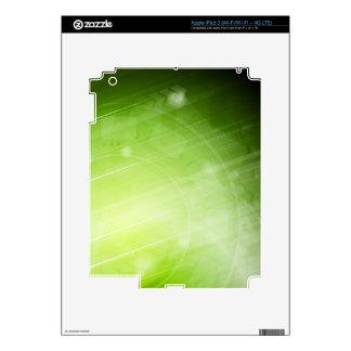 Green light design in hi-tech style iPad 3 decals