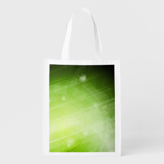 Green light design in hi-tech style market totes