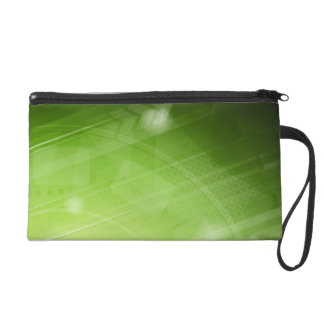 Green light design in hi-tech style wristlet