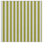 [ Thumbnail: Green & Light Gray Colored Lines Fabric ]