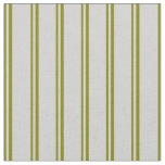 [ Thumbnail: Green & Light Gray Colored Stripes Fabric ]