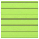 [ Thumbnail: Green & Light Green Colored Lines/Stripes Pattern Fabric ]