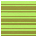 [ Thumbnail: Green & Light Green Colored Striped/Lined Pattern Fabric ]