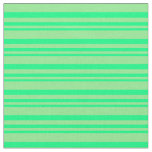 [ Thumbnail: Green & Light Green Colored Striped Pattern Fabric ]