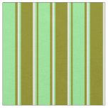 [ Thumbnail: Green, Light Green & Light Cyan Colored Lines Fabric ]