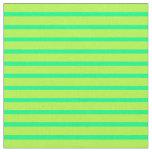 [ Thumbnail: Green & Light Green Lines/Stripes Pattern Fabric ]
