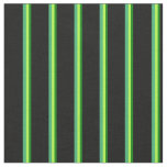 [ Thumbnail: Green, Light Green, Sea Green, and Black Lines Fabric ]